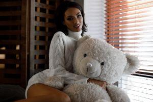 women window teddy bears model women indoors
