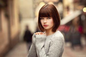 women women outdoors blurred urban lods franck marie (500px) marie grippon portrait model short hair
