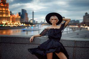 women women outdoors hat model georgy chernyadyev blonde urban