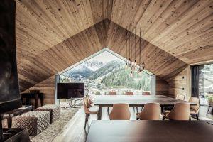 wood house cabin modern landscape interior design architecture interior table house
