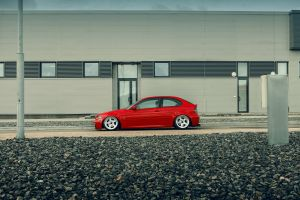 work wheels red car stance bmw e46 bmw 3 e46 compact bmw