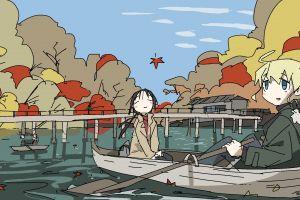 yuuri (shoujo shuumatsu ryokou) chito (shoujo shuumatsu ryokou) shoujo shuumatsu ryokou anime girls tkmiz rowboat