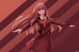zero two (darling in the franxx) darling in the franxx picture-in-picture anime girls anime