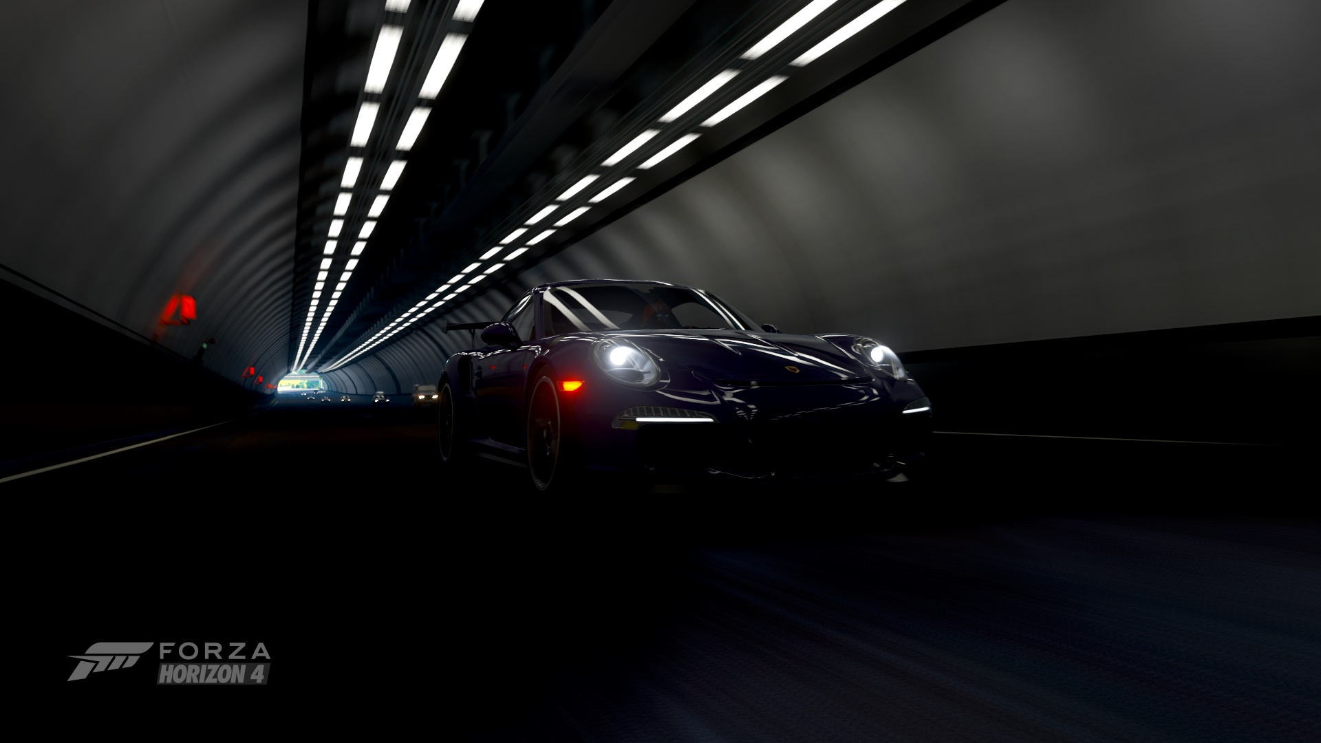 tunnel video games vehicle forza horizon 4 forza horizon 4 car porsche 911 gt3 rs