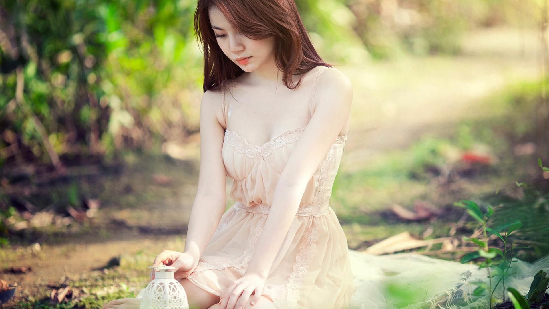 women outdoors redhead model long hair women asian photography