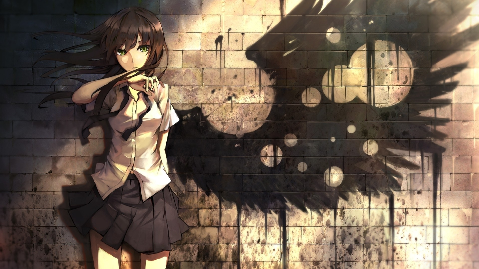 angel green eyes graffiti manga