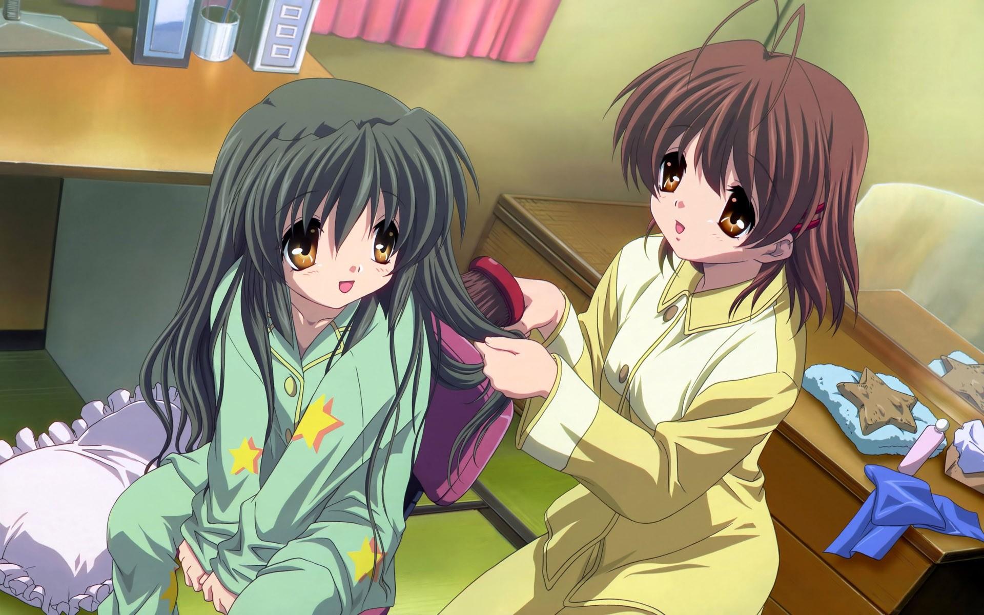 anime girls anime clannad ibuki fuko nagisa furukawa