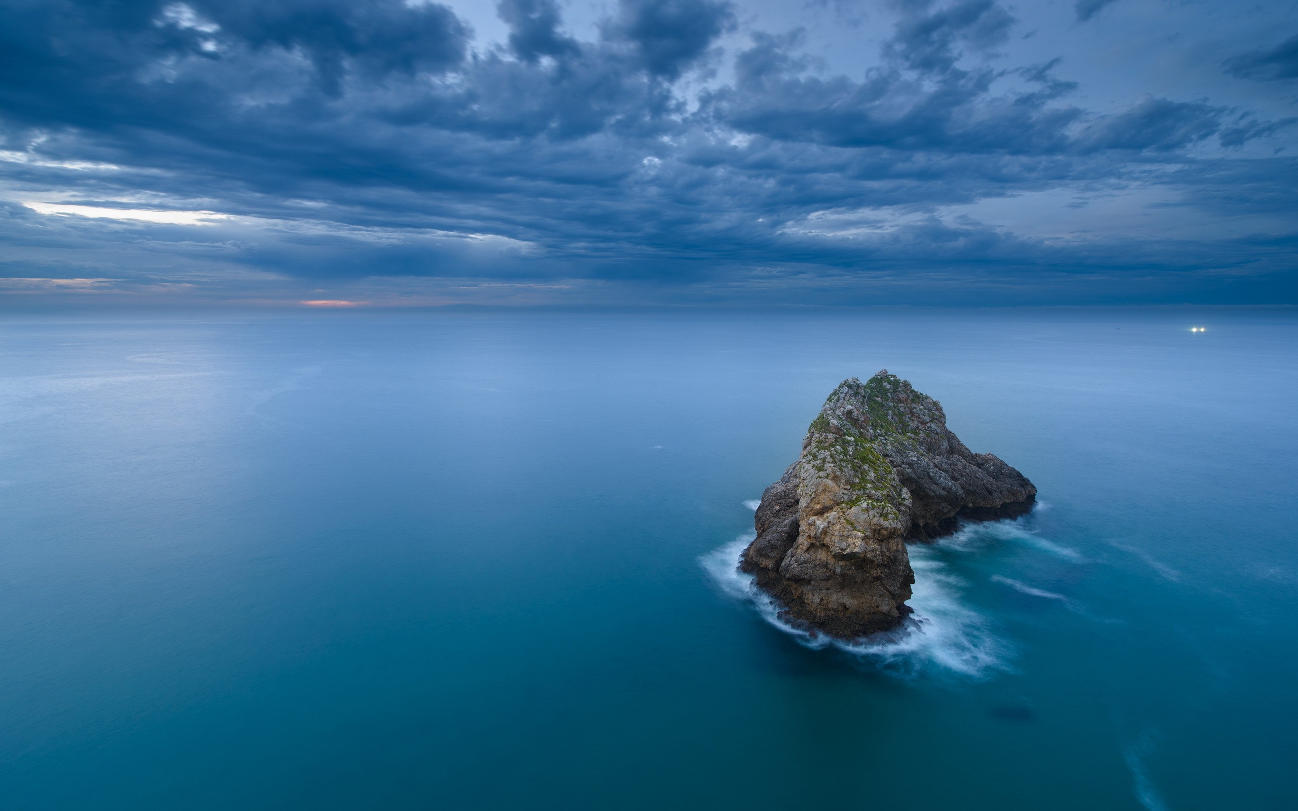 clouds horizon landscape sea