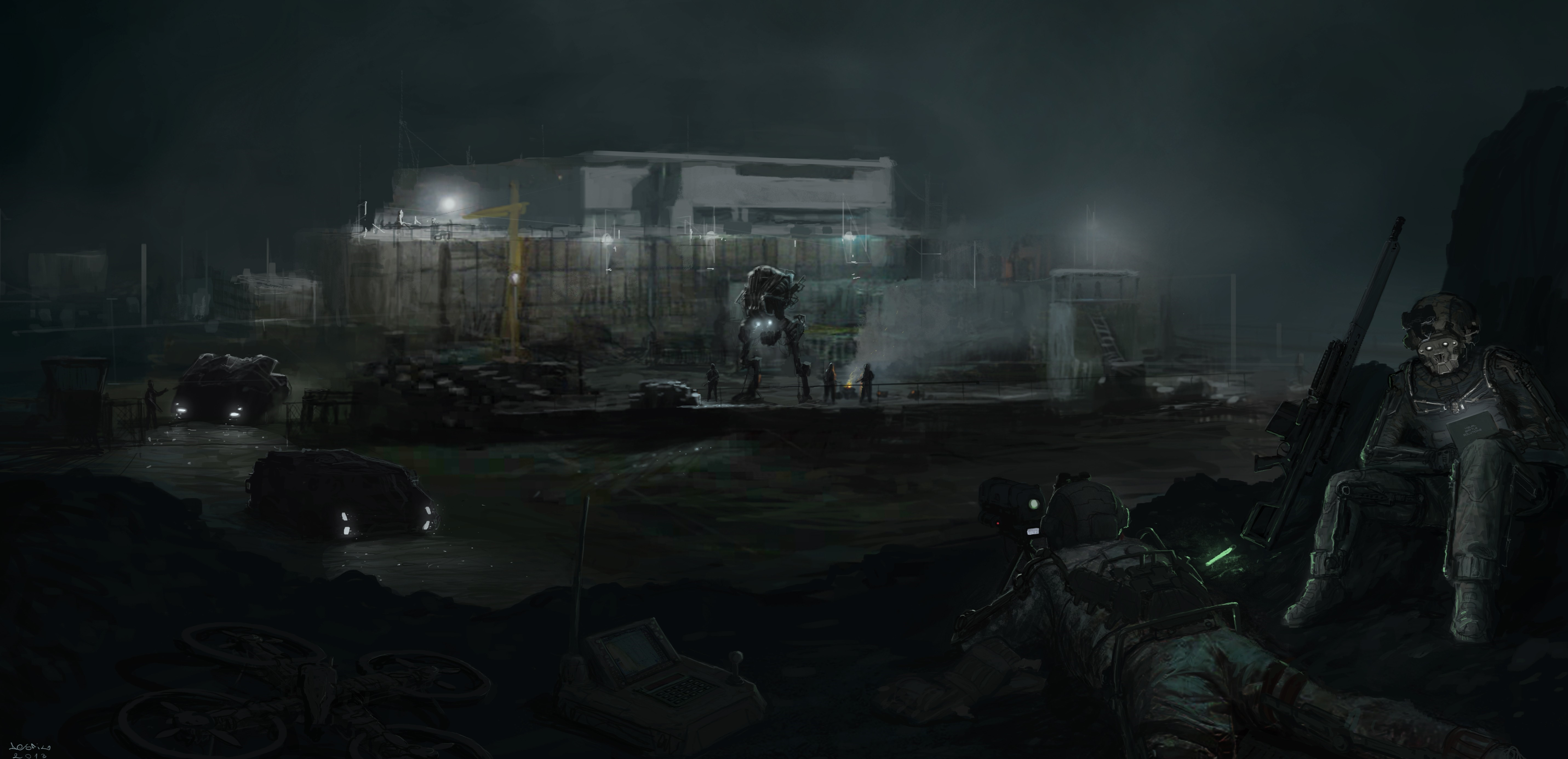 dark science fiction futuristic 2013 (year) artwork