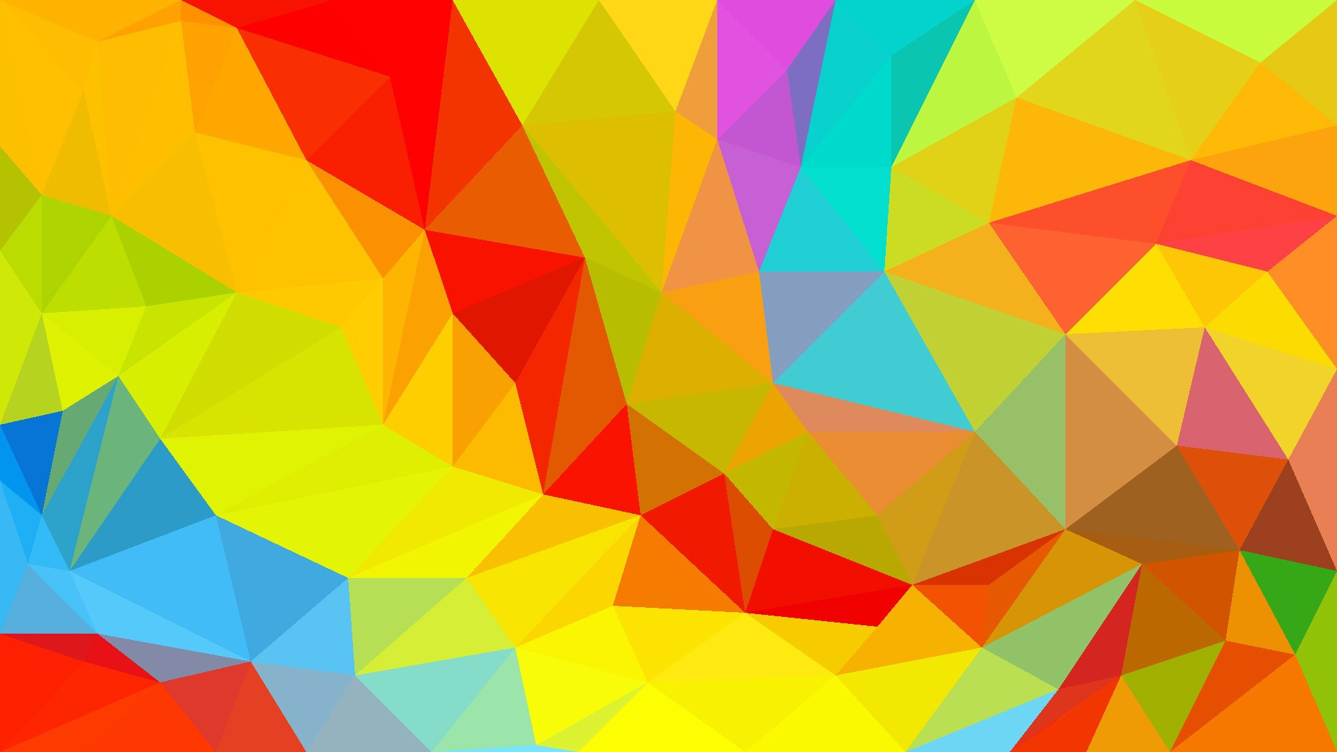 digital art low poly colorful abstract
