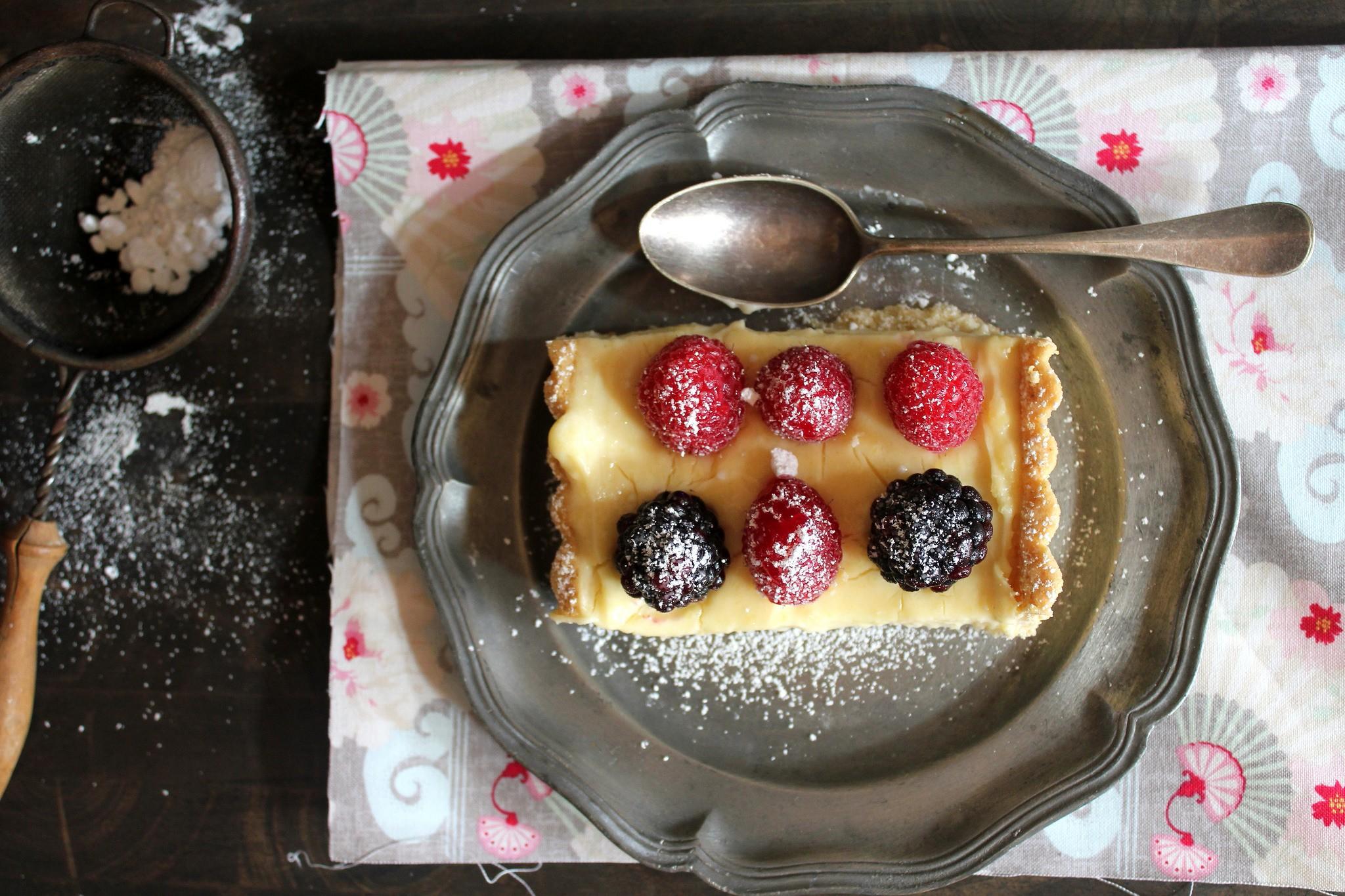 food sweets spoon cake fruit