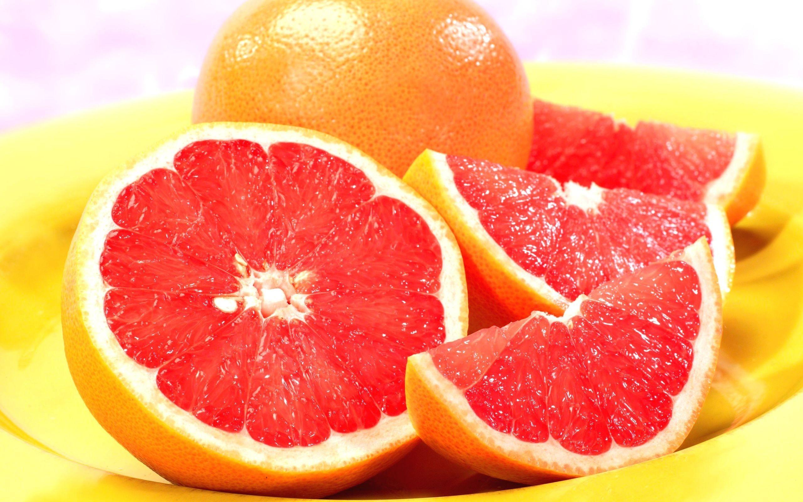 grapefruits fruit food colorful