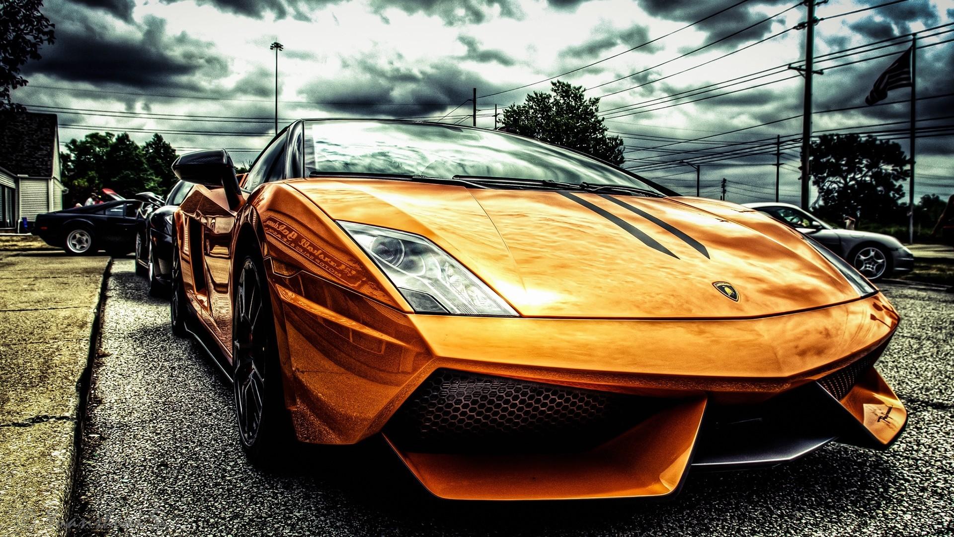 lamborghini filter car orange
