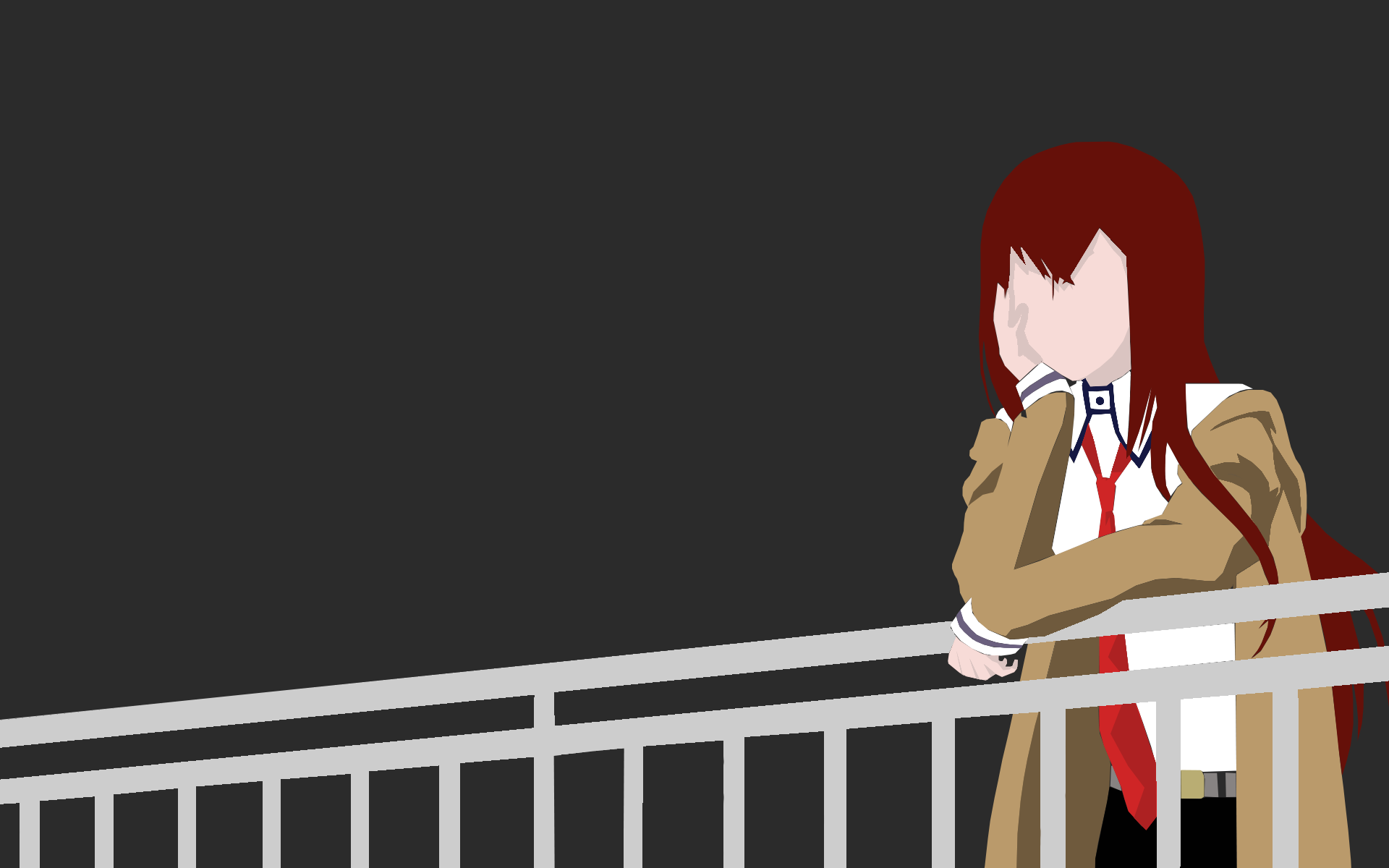 makise kurisu steins;gate anime girls vector