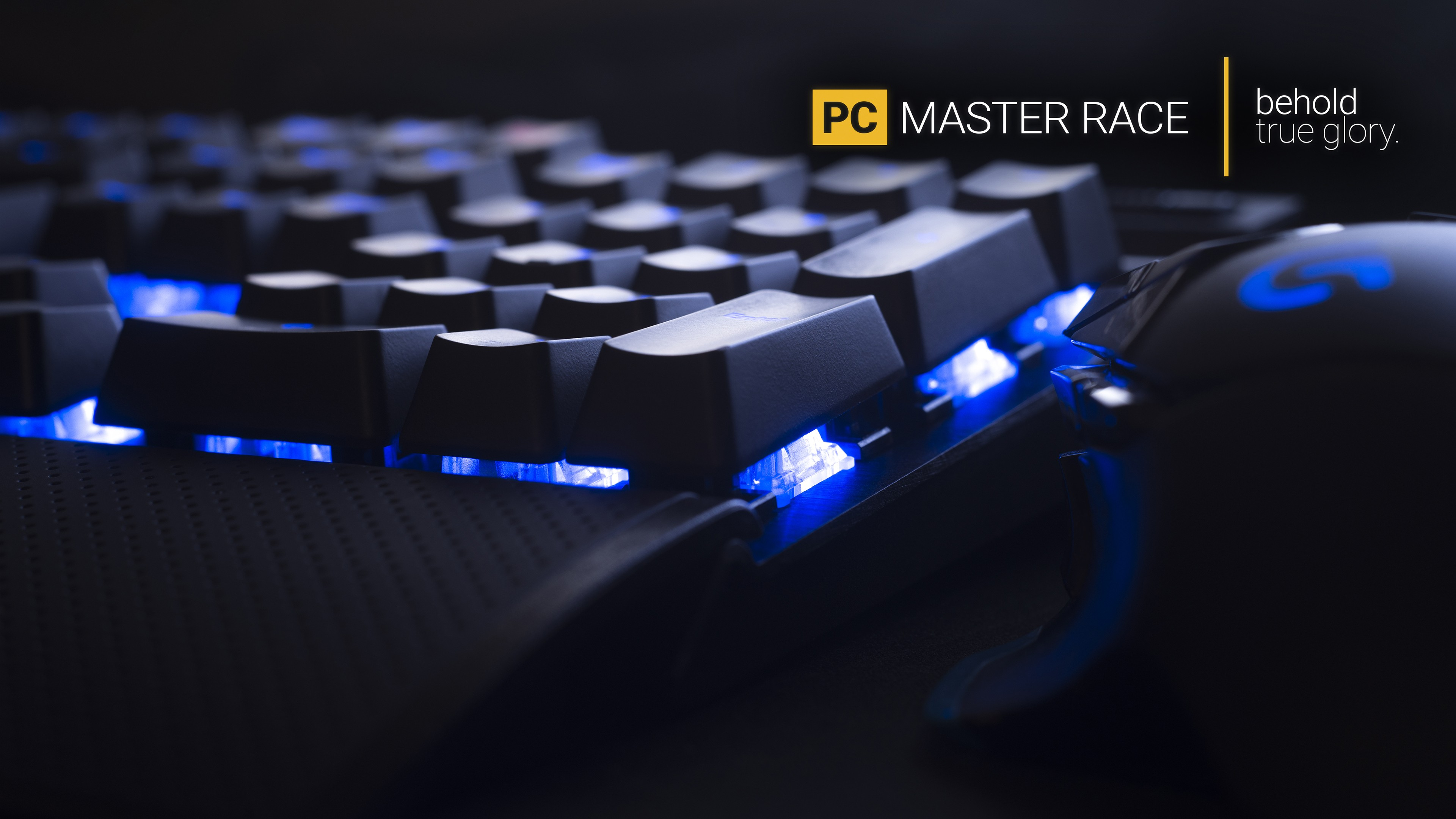 master race blue lights computer mice keyboards typography digital art technology computer computer mouse hardware pc master  race pc gaming