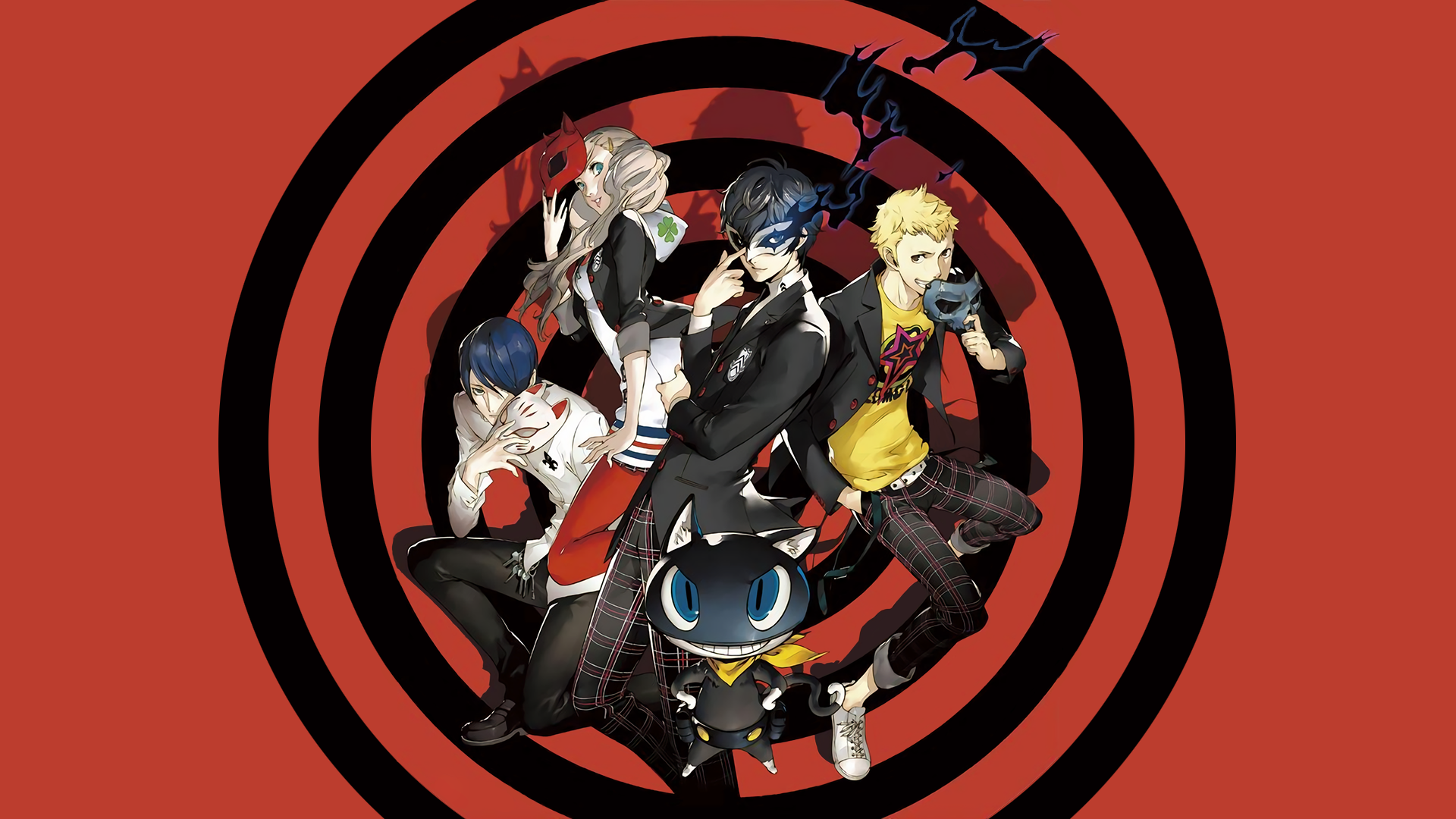 persona 5 anime persona series red background