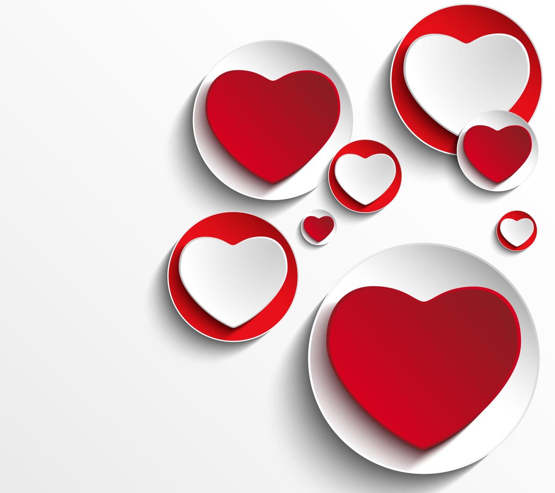 red plates white heart (design)