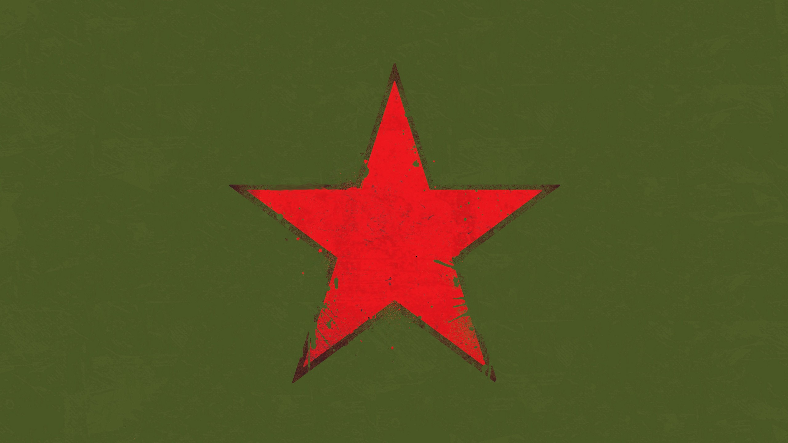 red star ussr green background digital art minimalism military splashes army stars cgi