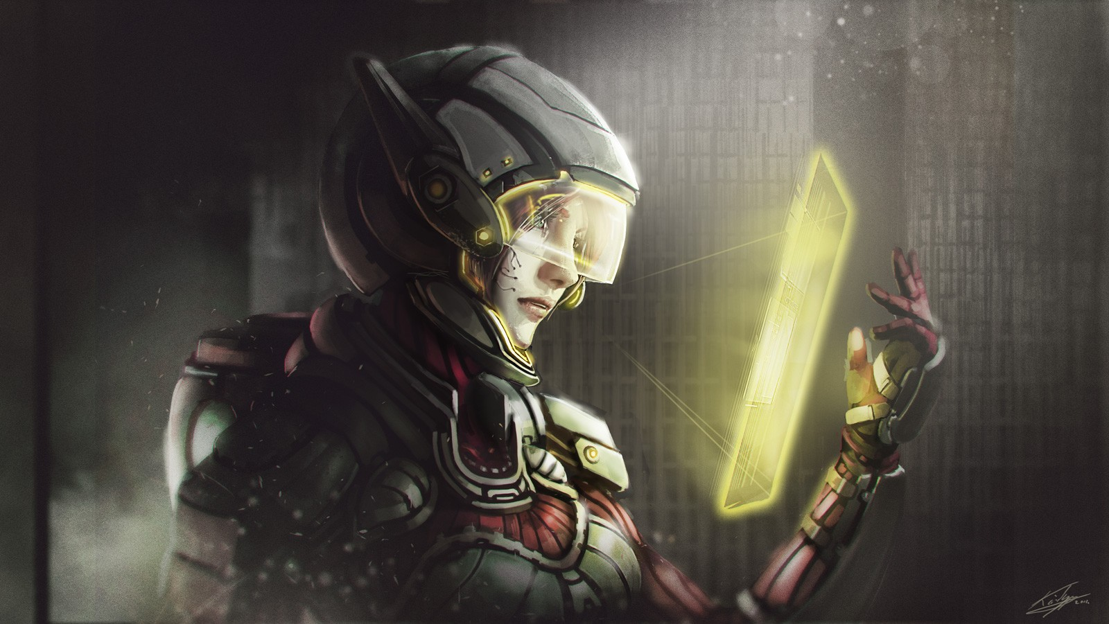 science fiction futuristic women artwork