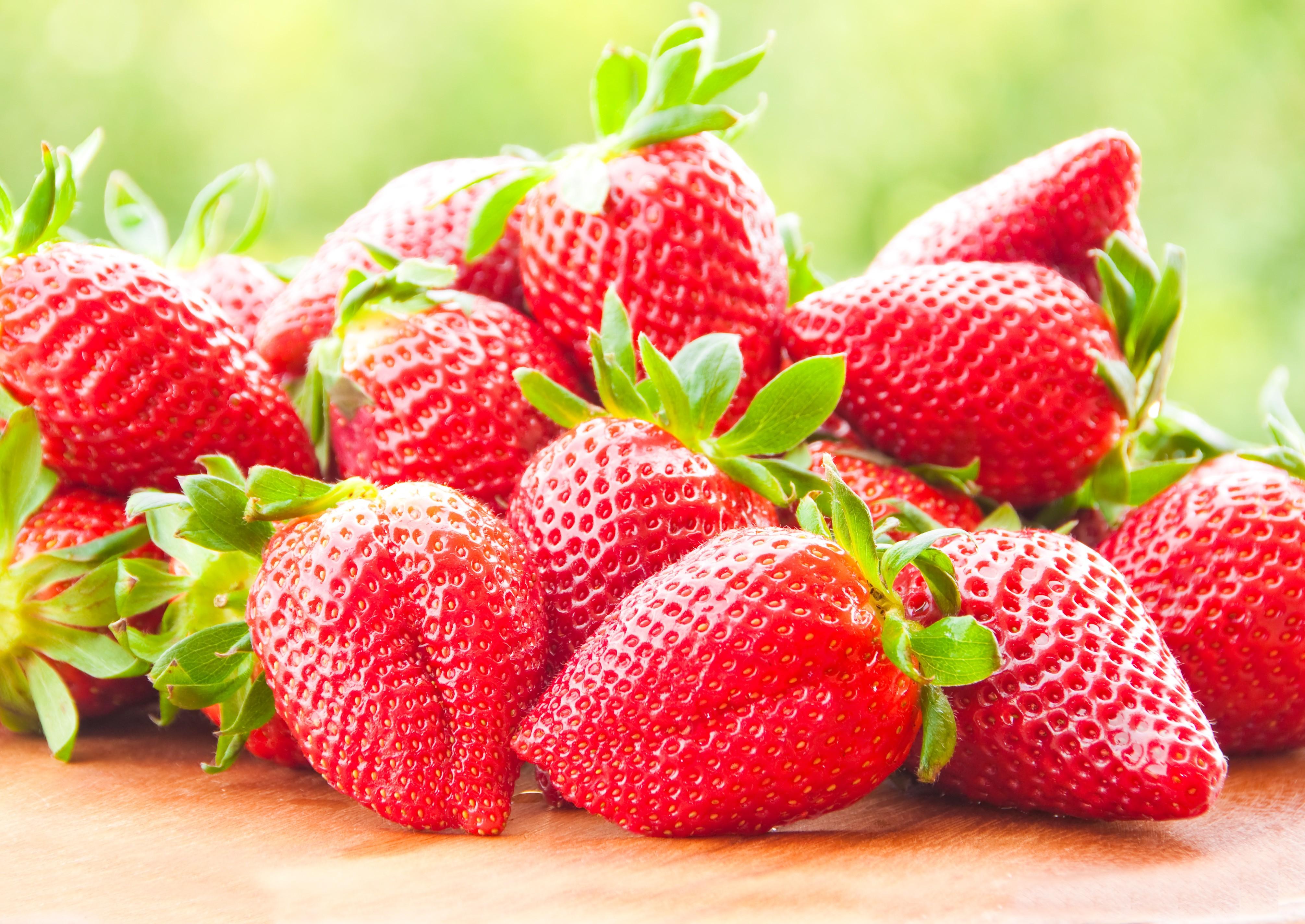 strawberries food berries fruit