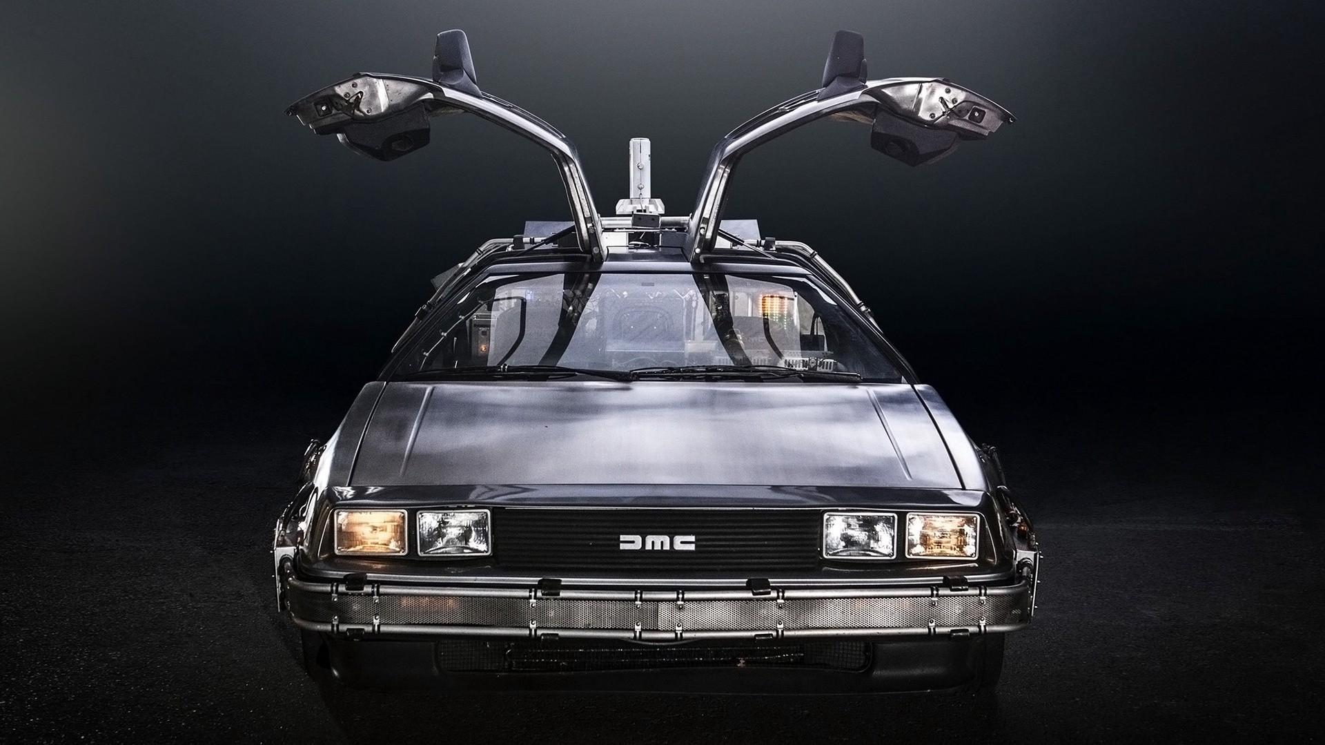 supercars delorean back to the future time travel