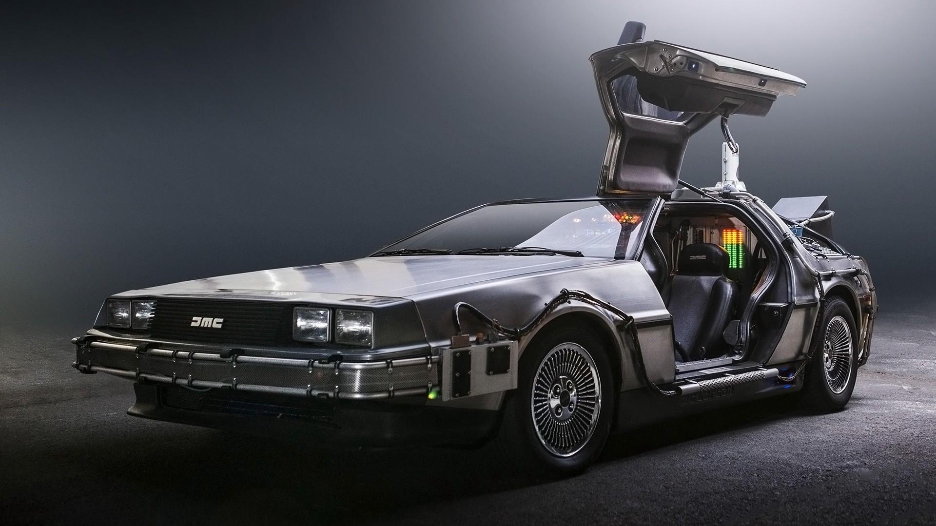 supercars time travel back to the future delorean