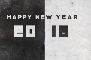 2016 (year) numbers monochrome new year