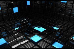 3d blocks render digital art abstract
