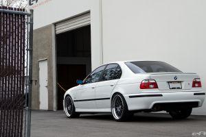 5-series bmw white car