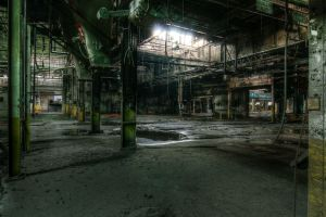 abandoned building factory ruin