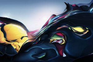 abstract artwork shapes surreal colorful