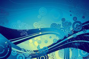 abstract blue background waves cgi circle blue wavy lines digital art