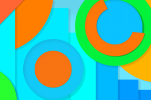 abstract colorful material style