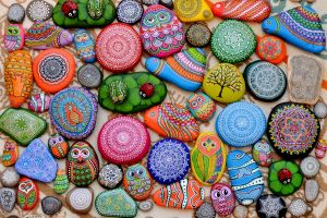 abstract colorful stones