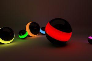 abstract digital art balls render