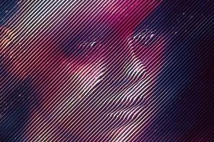 abstract digital art face women
