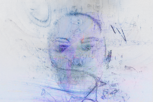 abstract digital art face