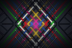 abstract digital art lines colorful
