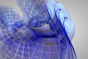 abstract digital art map nets cgi blue