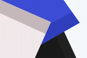 abstract geometry blue