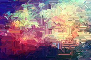 abstract warm colors digital art