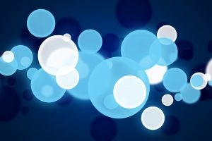 abstract white blue digital art dots