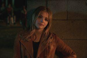 actress leather jackets women chloë grace moretz