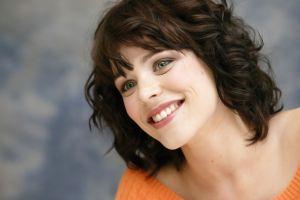 actress rachel mcadams blue eyes women face green eyes brunette curly hair smiling