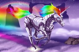 adult swim unicorns anthro robot unicorn attack
