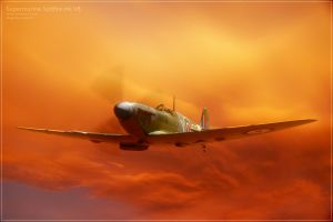 airplane supermarine spitfire artwork