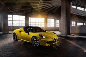 alfa romeo vehicle alfa romeo 4c spider car yellow cars