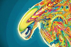 alien vs. predator alien (movie) psychedelic aliens xenomorph