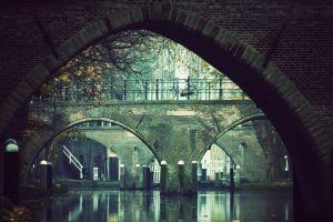 amsterdam trees bicycle photography bridge shadow river
