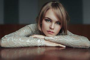 anastasia scheglova women model portrait georgy chernyadyev juicy lips looking at viewer hazel eyes